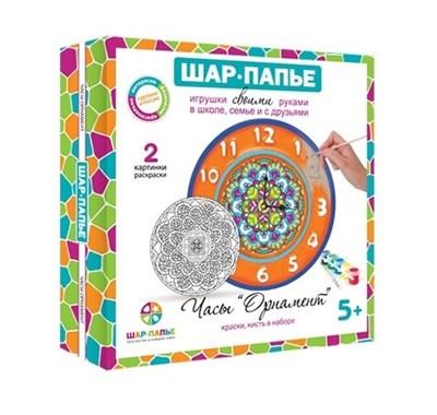 Набор Часы.Орнамент Шар папье - фото 5539