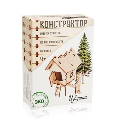 Деревянный конструктор Избушка - фото 5798