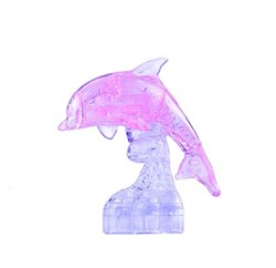 3D головоломка Ice puzzle Дельфин  розовый XXL 00-76 - фото 6314