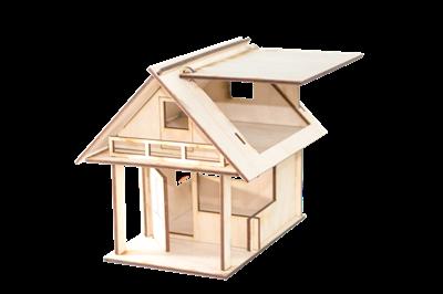 Деревянный конструктор Домик - фото 6689