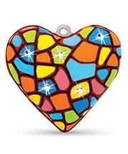 Набор Сердце со стразами - фото 7308