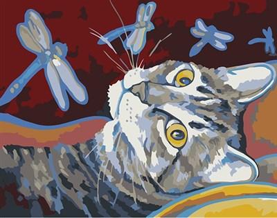 Раскраска по номерам Арсений и стрекозы - фото 7843