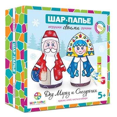 Набор Дед Мороз и Снегурочка Шар-папье - фото 7880