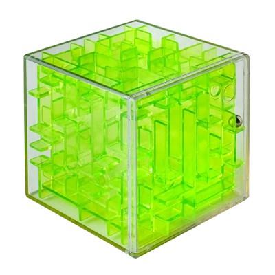 Лабиринтус Куб, 6 см, зелёный, прозрачный - фото 8227