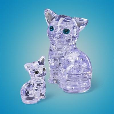 3D головоломка Кошка Серебристая - фото 8688