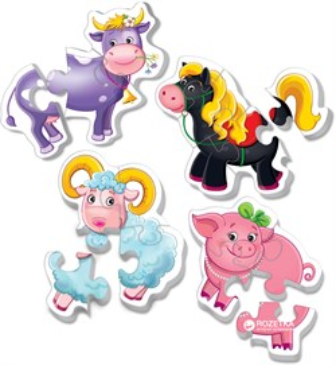 Мягкие пазлы Baby puzzle Ферма - фото 9043