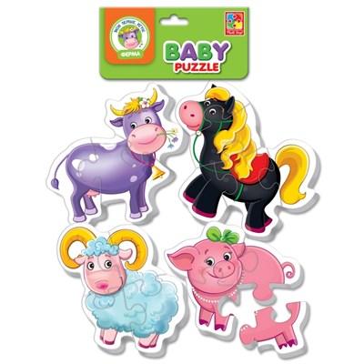 Мягкие пазлы Baby puzzle Ферма - фото 9044