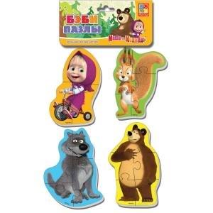 Мягкие пазлы Baby puzzle Маша и Медведь Белка и волк - фото 9045