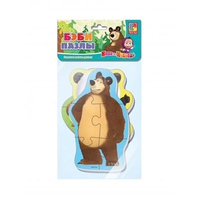 Мягкие пазлы Baby puzzle Маша и Медведь Панда и заяц - фото 9046