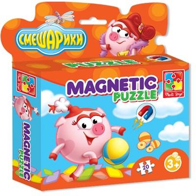 Магнитные пазлы в коробке Смешарики Нюша - фото 9342