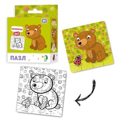 Пазл-раскраска 2-в-1 «Медвежонок» - фото 9605