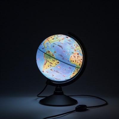 Глобус Зоогеографический (Детский) 210 мм с подсветкой - фото 9672