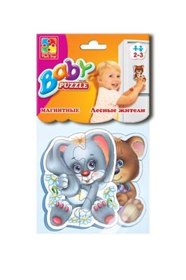Мягкие магнитные Baby puzzle «Лесные жители» - фото 9770