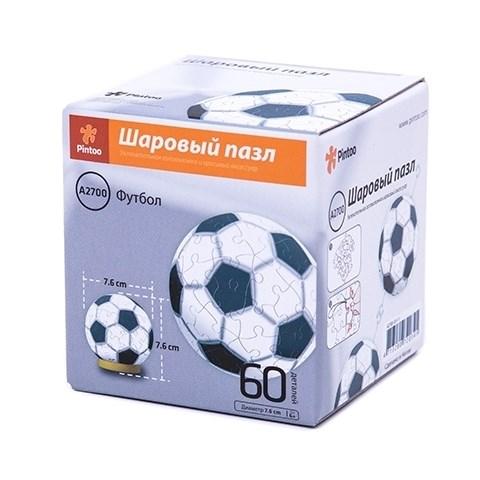 Шаровый Пазл Футбол (60 деталей,7,6 см)