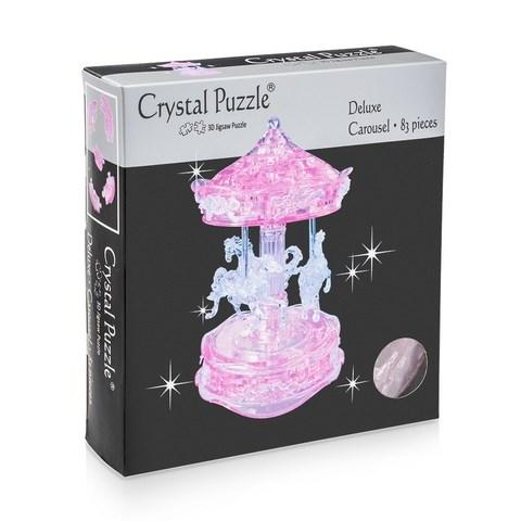 3D головоломка Карусель розовая