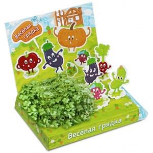 Детский развивающий набор для выращивания Веселая грядка