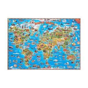 Настольная карта мира для детей