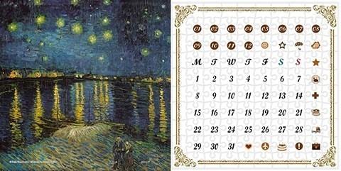 Пазл Вечный календарь Звезная ночь, Ван Гог