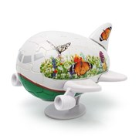 3D Пазл Самолетик Бабочки