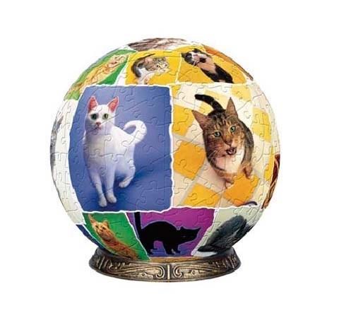 Шаровый пазл Мир кошек (60 деталей)
