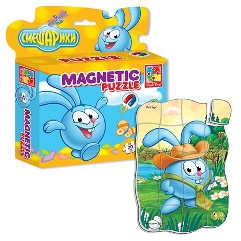 Магнитные пазлы в коробке Смешарики Крош