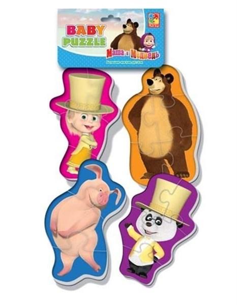 Мягкие пазлы Baby puzzle Маша и Медведь Танцор