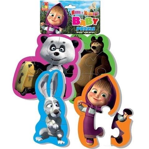 Мягкие пазлы Baby puzzle Маша и Медведь Панда