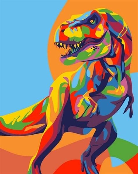 Картина по номерам Радужныи Динозавр