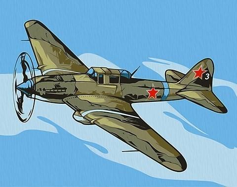 Картина по номерам Ил-2 Штурмовик**