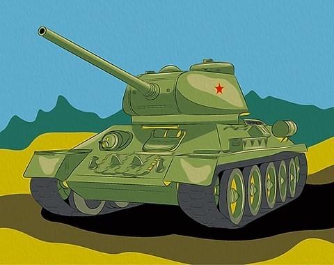 Картина по номерам Танк Т-34**
