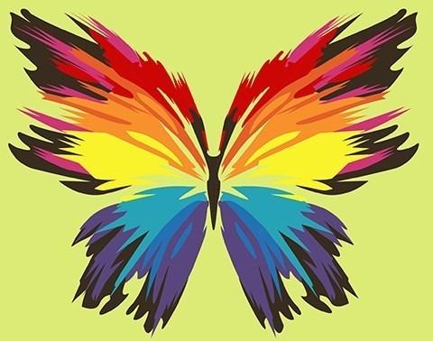 Картина по номерам Бабочка-многоцветница