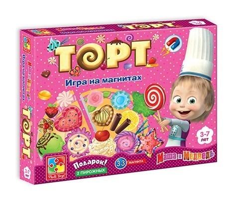 Игра на магнитах Юный повар Торт
