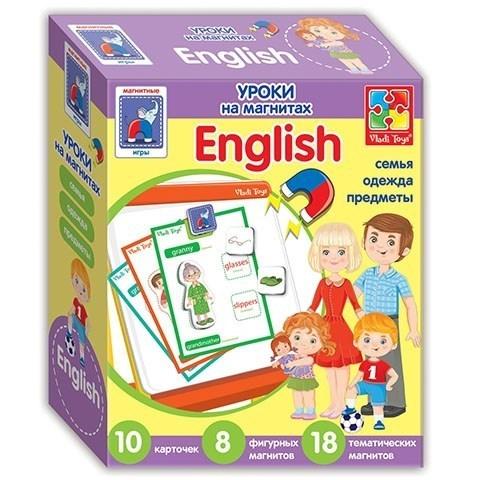 Уроки на магнитах English Семья