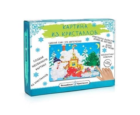 Картина из кристаллов Зима в подарках