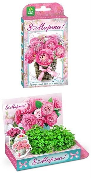 Подарочный набор Живая открытка  8 марта Букет роз