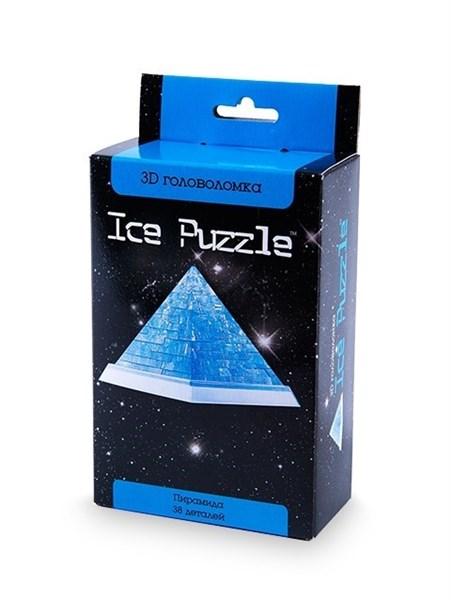 3D головоломка Ice puzzle  Пирамида голубая 0-144