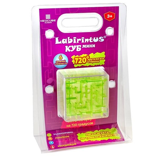 Лабиринтус Куб, 6 см, зелёный, прозрачный