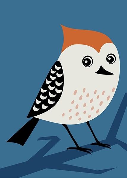 Раскраска по номерам Птичка