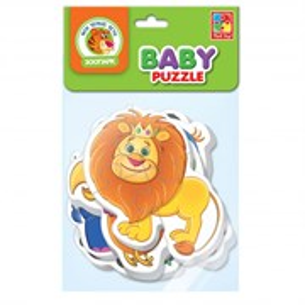 Мягкие пазлы Baby puzzle Зоопарк
