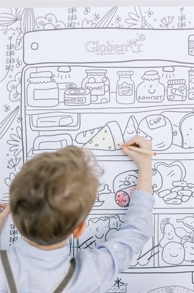 Огромная раскраска «Что скрывает холодильник»