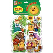 Мягкие пазлы Baby puzzle Сказки Колобок